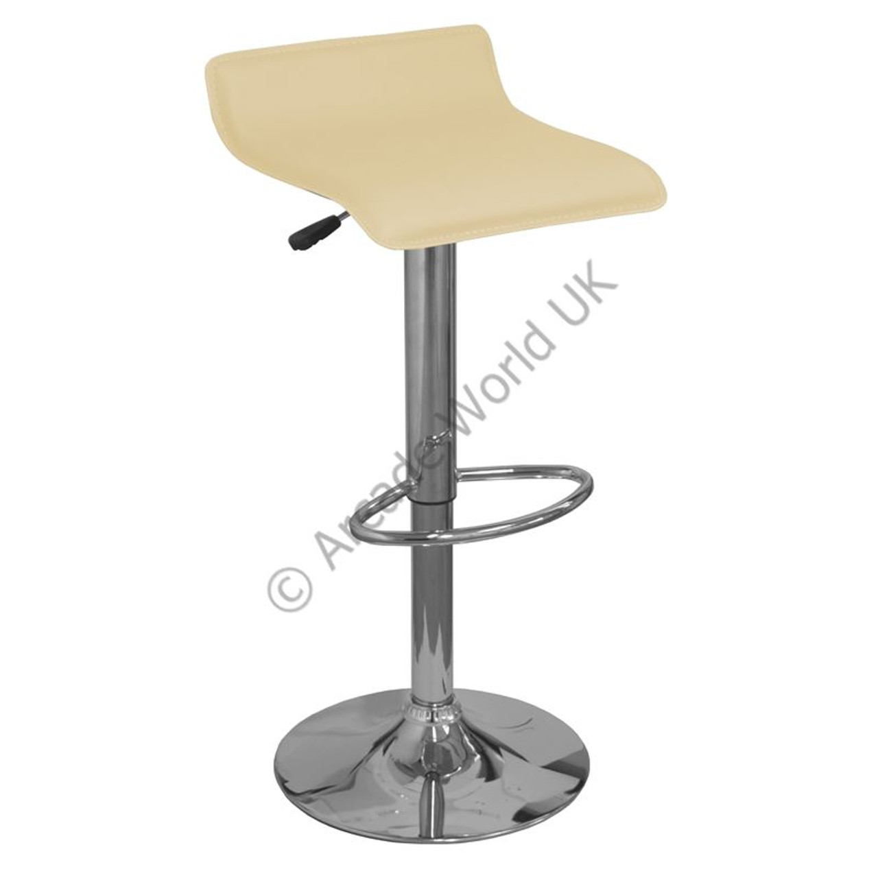 Chrome Bar Stools ~ Baceno brushed chrome bar stool arcade world uk
