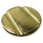 Pack Of 20 x 27.8mm Grooved Brass Tokens