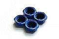 Serrated Cap Nut M12*1.25Blue (4pcs)-Alumina material