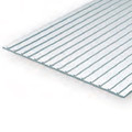 Evergreen  1mm Thick15 x 30cm Metal Seam Roof 3/16