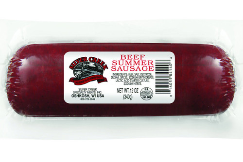 Silver Creek Summer Sausage available in 8 oz, 12 oz, & 24 oz.