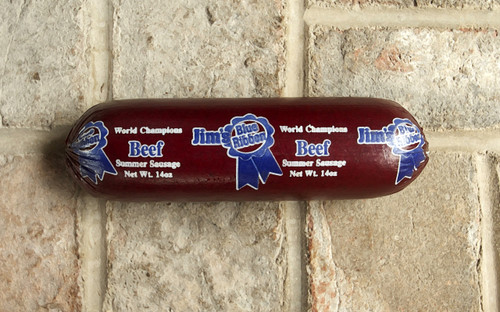 Jim's Blue Ribbon World Champion 14oz Beef Summer Sausage