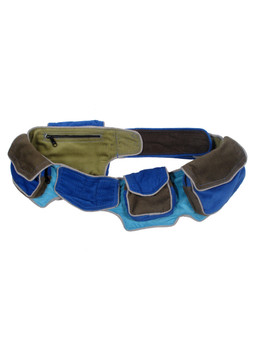 #G986 Corduroy Color Block Utility Belt