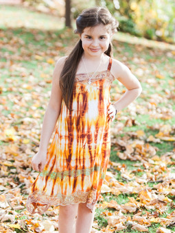 #1024 Tie Dye Girls' Dress