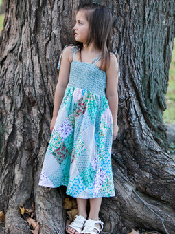 #5661 Diamond Patch Kids Dress