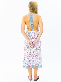 #5970 Crochet Back Dress