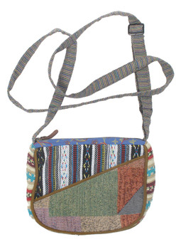 G4110 Woven Patchwork Bag