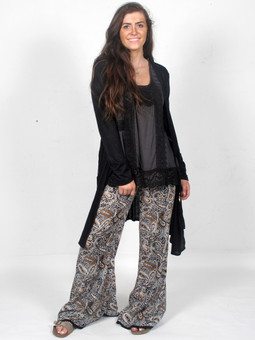 6234 Wide Leg Paisley Pants
