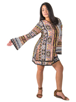 6222 Psychedelic Mini Dress