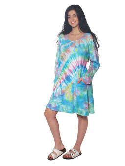 2052 Baby Doll Tie Dye Dress