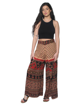 2042 Faux Wrap Pants in Print