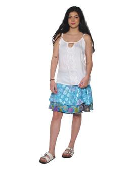 217713 Silk Wrap Skirt
