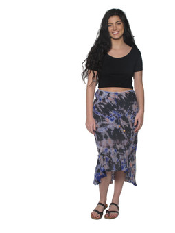 2035 Cotton Crepe Tie Dye Skirt