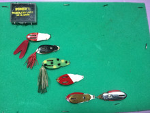 1948 Boroen's lures, also called, Ollies Double Weedless, these are some great examples of the Spring Loaded Hook.