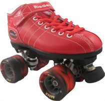 Riedell Diablo Speed Roller Skates-Red