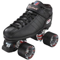 Riedell R3 Black Roller Derby Quad Skates