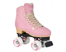 With the Chaya Bubble Gum roller skate fashion truly meets comfort and performance. This skate takes you back to the heart of the roller skating movement in California in the 70´s. A perfect roller skate to cruise at the beach or to hang out with your friends. The Chaya Bubble Gum is extremely comfortable, fitting just like a sneaker. This light pink colour roller skate with its high quality embroidery is stylish and comfortable enough to wear all day long and well into the evening.