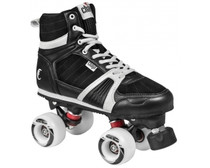 These park skates from Chaya are high-end quad roller skates incorporating a lot of the technologies that Chaya has improved through their love of Roller Derby.  The boot of the Jump skate is a high-cut leather/PU clad boot with a mesh inner. The design draws heavy inspiration from sneaker designs and the foam padded boot is comfortable to wear for extended periods of time. The lacing is made to make the boot fit nice and tight around the foot for improved control.  The plates on these roller skates are Chayas Shari plates. They are made with a mix of nylon and fiberglass for a strong lightweight plate. Along with the 20° cast aluminum trucks and Jelly Interlock cushions you get a highly maneuverable quad roller skate that is fun to skate and easy to control.  Octo Paseo wheels with a soft and grippy 78A durometer. And paired with the Wicked ABEC7 bearings you get a really nice setup. Notice that if you intend to use these skates for indoor derby only you might want to get harder wheels which will be better suited for this purpose. Controller toe stops make changing direction and stopping a breeze.  These skates can be used for regular exercise skating outdoors. But ideally they should be used in parks and on verts where they really unveil their full potential. Since the ankle length of the boot is mid-cut they are also perfect for Roller Derby beginners (harder indoor wheels may be required for this though).