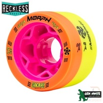 RECKLESS WHEELS (4) - MORPH 88a/91a - ORANGE/YELLOW