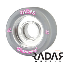 RADAR WHEELS (4) - DIAMOND - GREY - 62mm/90a