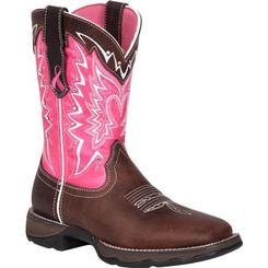 Durango Benefiting Stefanie Spielman Women's Western Boot 3557 DARK BROWN AND PINK