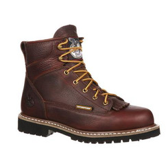 Georgia Mens Waterproof Lace-To-Toe Work Boot GBOT052 CHOCOLATE