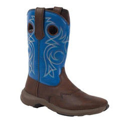 Lady Rebel by Durango Women's Steel Toe Western Boot D022 BROWN TURQUOISE