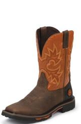 """Justin Mens Boots WK4944 11"""" RUSTIC BARNWOOD"""