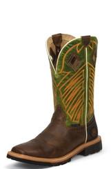 """Justin Mens Boots WK4971 12"""" DERRICKMAN TAN STEEL TOE"""