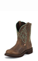 "Justin Ladies Boots L9606 8"" TAN JAGUAR"