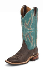 "Justin Ladies Boots BRL335 13"" CHOCOLATE PUMA COWHIDE"