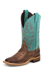 """Justin Ladies Boots BRL355 11"""" RUST FLORENCE"""