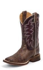 """Justin Ladies Boots BRL372 11"""" YANCEY BURGUNDY"""