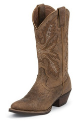 "Justin Ladies Boots SVL2001 12"" QUINLAN TAN"