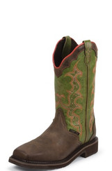 "Justin Ladies Boots WKL8003 12"" WAXY BROWN"