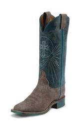 "Justin Ladies Boots BRL321 13"" BLUE HAZE COWHIDE"