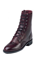 "Justin Ladies Boots L0514 8"" BLACK CHERRY CORONA"