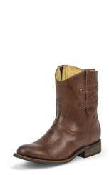 "Justin Ladies Boots MSL106 7"" BRANDY WIZARD"