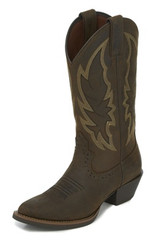 "Justin Ladies Boots L2720 12"" ROSELLA CHOCOLATE"