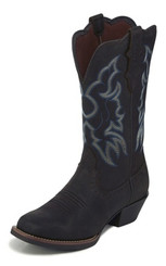 "Justin Ladies Boots L2730 12"" BRANDY DARK BROWN"