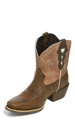 "Justin Ladies Boots L9511 7"" CHELLIE CHOCOLATE"