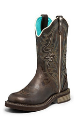 "Justin Ladies Boots L2911 12"" LILY BROWN"