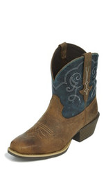 "Justin Ladies Boots L9512 7"" CHELLIE RUSTIC"