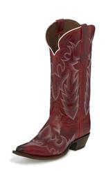 "Justin Ladies Boots L4346 13"" ELINA REDSTONE"