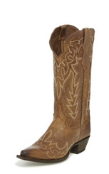 "Justin Ladies Boots L4348 13"" ELINA CHOCOLATE"