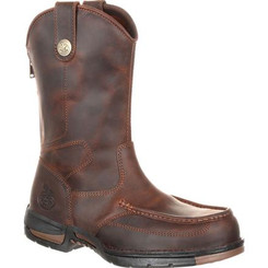 Georgia Boots Mens Athens Pull-On Work Boot 0226 DARK BROWN
