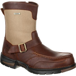 Georgia Boot Athens Waterproof Side-Zip Boot 0245 BROWN