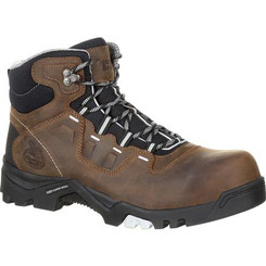 Georgia Mens Boot Amplitude Composite Toe Waterproof Work Boot 0216 BROWN