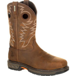 Georgia Boots Mens Carbo-Tec LT Alloy Toe Waterproof Pull-On Boot 0224 BROWN
