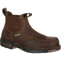 Georgia Boot Athens Chelsea Waterproof Work Boot 0156 DARK BROWN